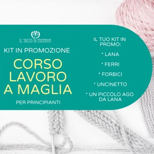 Kit of beginners for the Knitting Course