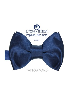 Man Gianluca silk bow tie Line Sposo high fashion fabric - Handmade