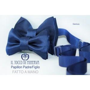 Papillon Papà Son Gianluca silk high fashion fabric - Handmade