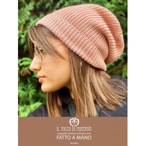 Pink woman hat in pure wool Jennifer - Handmade
