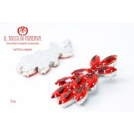 Eris red swarovski crystal earrings Handmade