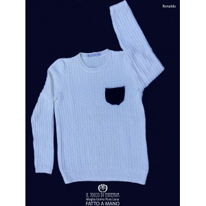 Ronaldo Men's Pure Wool Sweater - Handmade