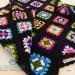 Serena multicolour crochet pure wool poncho - Handmade