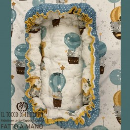 Baby Bed or Playmat Reducer Animals in Balloon - Handmade