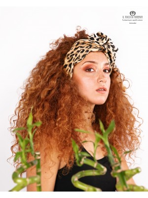 Hand Made Leopard Leopard Cotton Turban for hair