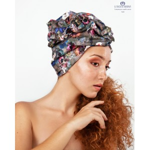 Hair Turban Flowered Cotton Kylie Handmade