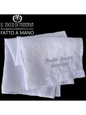 Customizable newborn / linen towel Handmade - Handmade