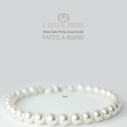 Swarovski Pearls Bracelet Chiara White Bride Line - Handmade