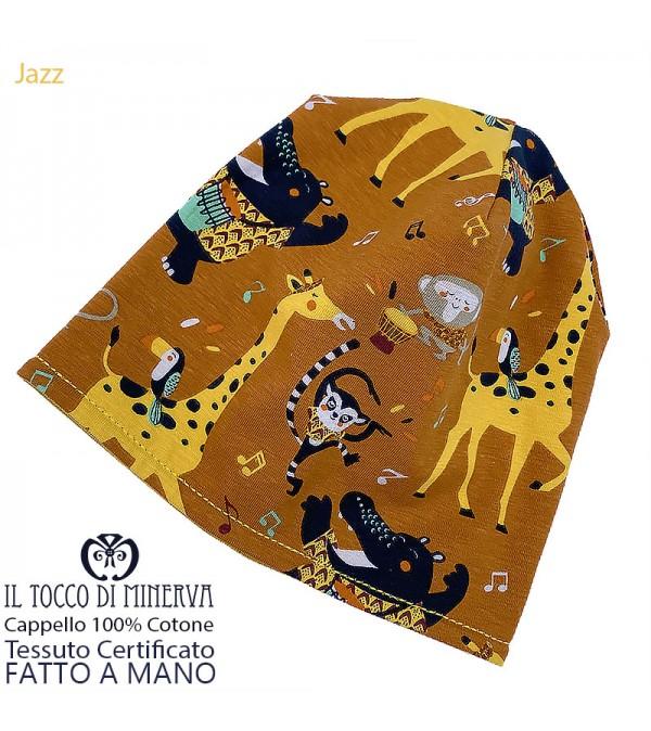 Reversible baby hat 100% jazz cotton - Handmade