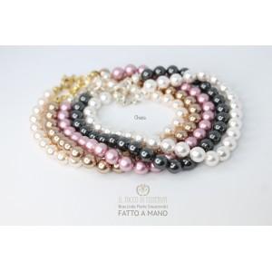 Swarovski Antique Rose Swarovski Pearl Bracelet - Handmade