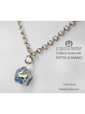 Swarovski crystal necklace Beyoncè Bride Line 1 flower - handmade - HandMade