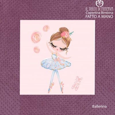 Baby Blanket with antique pink fleece border and Cotton Ballerina tutu - Handmade