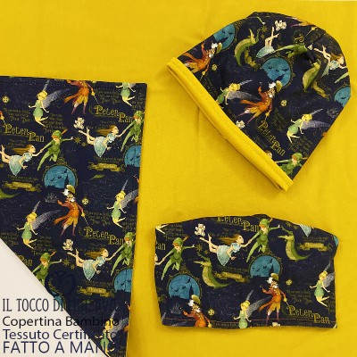 Baby Blanket in Mustard Peter Pan Certified Cotton - Handmade