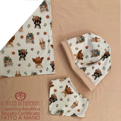 Romantic Certified Cotton Baby Blanket - Handmade