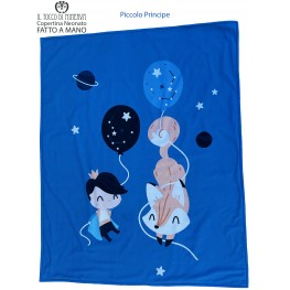 Fleece and Cotton Baby Blanket The Little Prince - Handmade