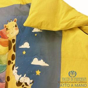 Giraffe children's duvet cover single bed 160 cm. x 140 cm. - Handmade