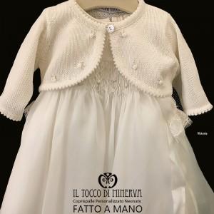 Vittoria Cotton Baby Shawl - Handmade