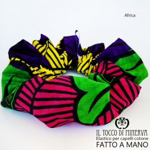 Africa cotton hair elastic - Handmade