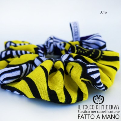 Afro cotton hair elastic - Handmade