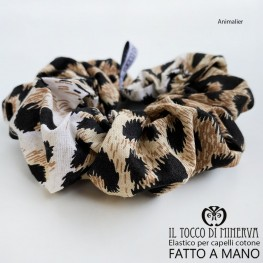 Leopard Leopard Cotton Hair Elastic - Handmade