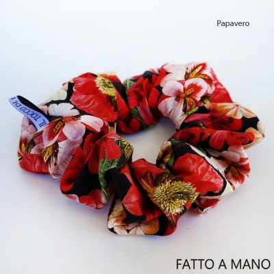 Cotton poppy hair elastic - Handmade