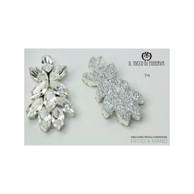 Swarovski crystal crystal earrings Eris Bridal Line Handmade