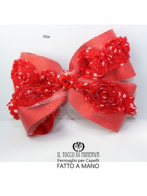 Pilar red hair clip Hand made