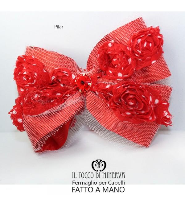 Pilar red hair clip Hand made