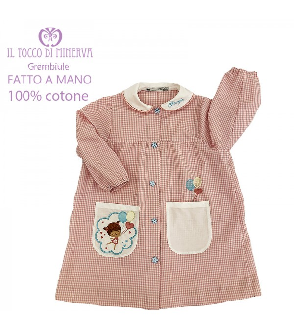 Personalized Embroidered Baby Apron - Handmade