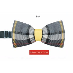 Man bow tie Wool Bart high fashion fabric - Handmade