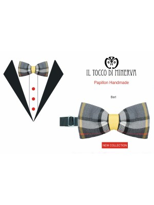 Man bow tie Wool Bart high fashion fabric - Handmade