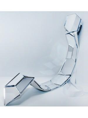 """Spectrum"" Plexiglass Mirror Tie - Handmade"