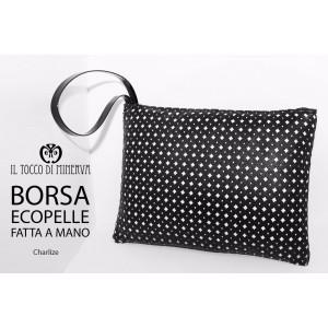 Black Charlize Ecopelle bag - Handmade