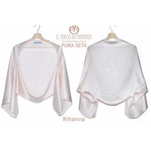 Rihanna pure silk powder stole - Handmade