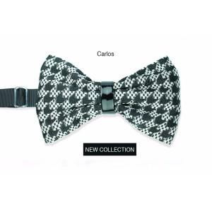 Man silk bow tie Carlos high fashion fabric Line Sposo - Handmade