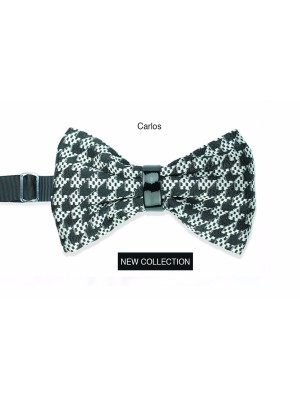 Man silk bow tie Carlos high fashion fabric Line Sposo - Handmade