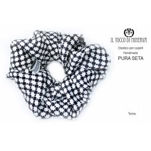 Silk hair elastic Turin - Handmade