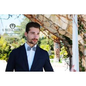 Men's Ferdy Cotton Bow Tie High Fashion Fabric - Handmade