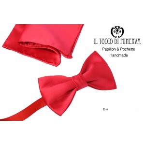 Papillon Rosso Enri high fashion fabric - Handmade