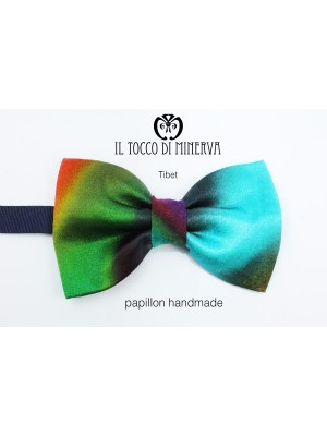 Man Silk Bow Tie Tibet fabric high fashion - Handmade