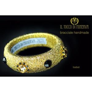 Lamé and swarovski Isabel bracelet - Handmade