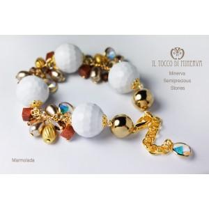 Bracciale multicolore pietre e swarovski Marmolada Realizzato a mano - Handmade