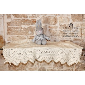 Annalina Pure Wool Baby Blanket - Handmade