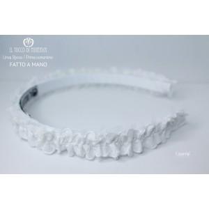 White First Communion Essential Headband Handmade