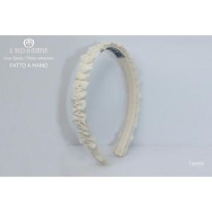 Beige First Communion Essential Headband Handmade