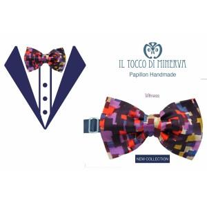 Man Witness silk bow tie high fashion fabric - Handmade