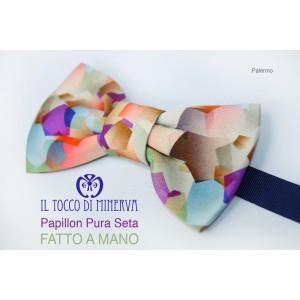 Man Palermo Silk Bow Tie high fashion fabric - Handmade