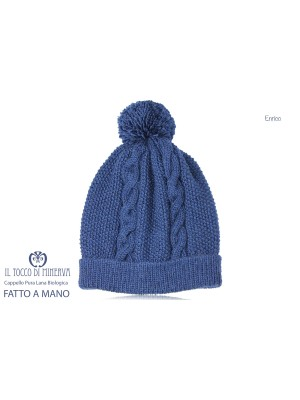 Enrico Blu Pure Wool Man's Hat - Handmade