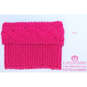 Fuchsia Marica  Wool Scarf Neck - handmade