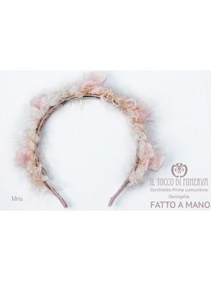 First Communion Headband Ceremony Mirta Face Powder Made By Hand